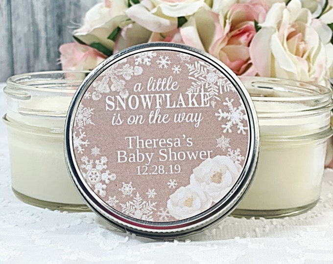 Snowflake Baby shower - Winter baby shower favors - Snowflake Favor - Baby shower favor - Girl Baby Shower - Boy baby shower - Set of 12