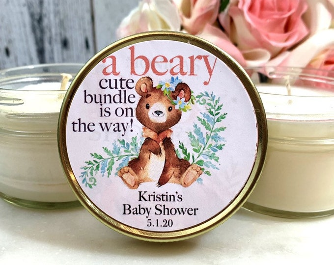 Teddy Bear Baby Shower Favors - Teddy Bear Baby Shower - Bear Baby Shower Favor - Teddy bear favors - Baby Shower Candle Favors Girl/Boy