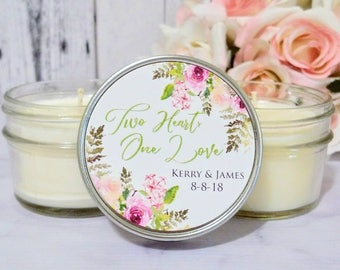 Floral Wedding Favors - Wedding Favors Candles - Floral Favors - Floral Wedding - Summer Wedding Favors - Wedding Party Favors - Set Of 12
