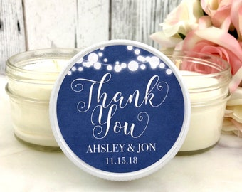 Blue Wedding Favors - Blue and white Wedding - Navy Blue Wedding - Wedding  candle favors - Winter Wedding favors - Soy candle favor 12
