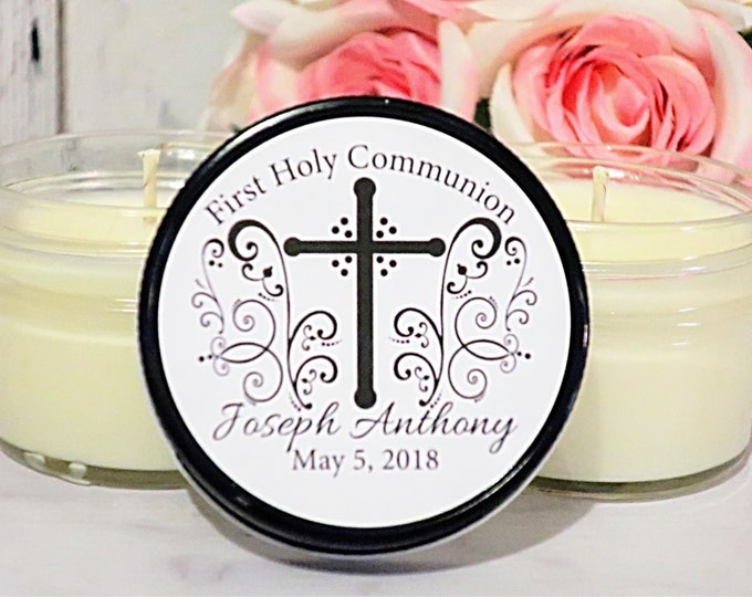 12 Holy Communion favors - First Holy Communion Favors - Holy Communion Candle Favor - Holy Communion Party Favors - Communion favors boy
