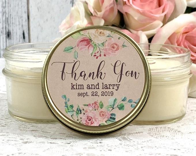 Vintage Wedding Favors - Rustic Wedding - Candle Wedding Favors - Vintage Wedding - Wedding Shower Favors - Vintage Favors - Set of 12