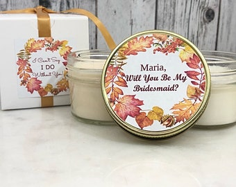 Fall Bridesmaid Gift - Fall Bridesmaid - Fall Bridal Shower Favors - Will You Be My Bridesmaid / Maid Of Honor Gift - Bridesmaids Gift