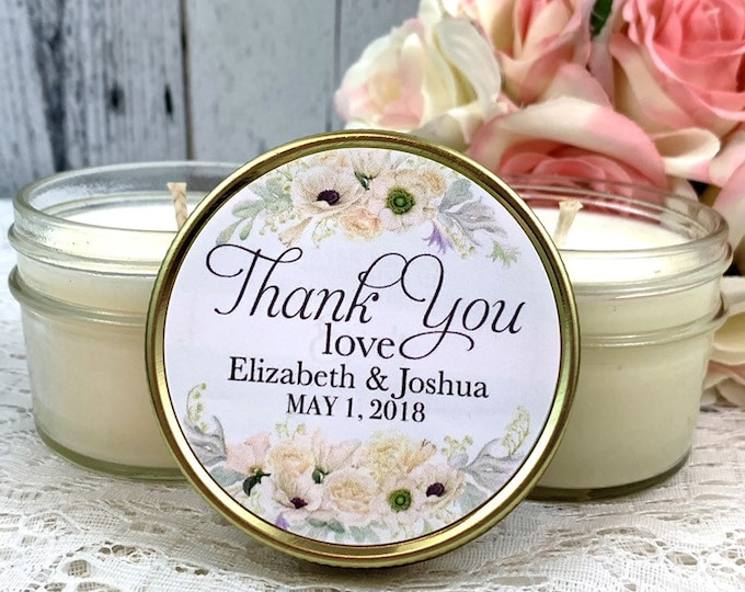 White Wedding favor - Wedding favor candles - White and gold Wedding - Wedding Favors for guests - White Wedding - Elegant Wedding favors