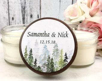 12 Winter Wedding Favor - Tree Wedding favors - Winter wedding - Winter Wedding Decor - Forest Wedding Favors - Wedding favors for guests