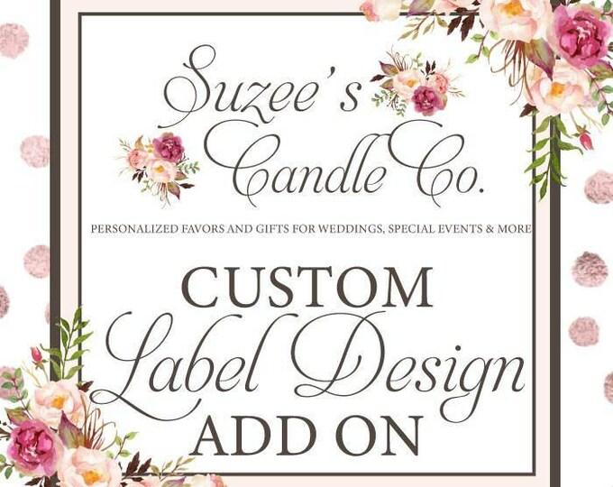 Custom Candle Favors - Custom Wedding Candle Favors - Custom Bridal Shower Candle - Custom Wedding Favors - Custom Baby Shower Favors