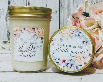 Bridesmaid Proposal Candle - Will You Be My Bridesmaid Candle - Will You Be My Maid Of Honor Candle - Bridesmaid Candle - Maid Of Honor Gift