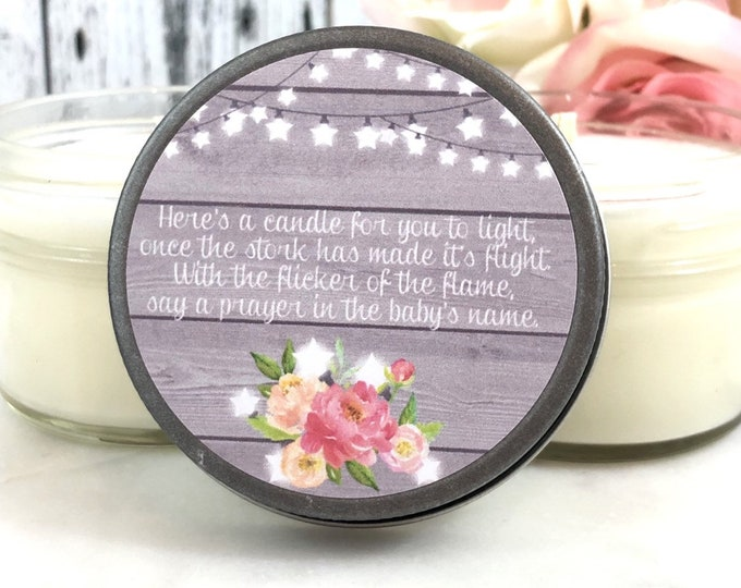 Neutral Baby Shower Favors - Baby showers Candle Favors - Neutral Baby shower - Girl/Boy Baby shower Favors - Baby shower Poems