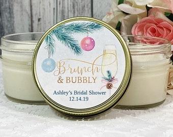 Christmas Bridal Shower Favors - Brunch and bubbly Bridal shower Favors - Christmas Bridal shower - Winter Bridal shower Favors