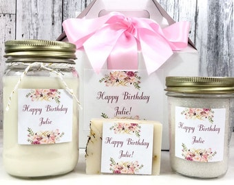 Happy Birthday Gift Box - Birthday Gifts For Her - personalized Birthday Gift - Birthday Gift Box - Spa Gift Set - Happy Birthday Gift