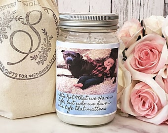 Personalized Candles - Soy Candles - Personalized Picture Candle - Personalized Gift - Custom Soy Candle - Scented Candles - Custom Gift
