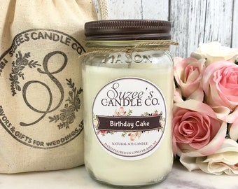 Birthday Cake Candle - Cake Scented Candle - Cake Candle - Birthday Candle Gift - Birthday Gift - Birthday scented Candle - Soy Candle