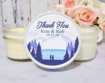 Mountain Wedding Favors - Lake Wedding Favors - Mountain Lake Wedding - Mountain Party - Wedding Candle Favors - Candle Favors set of 12