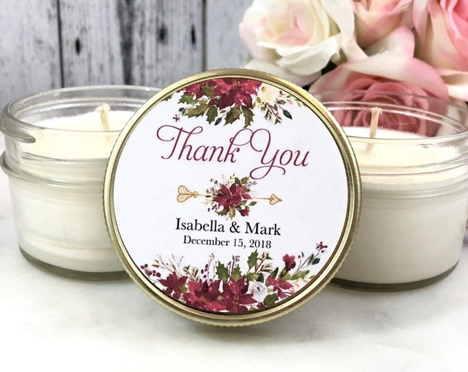 Winter Wedding Favor - Winter Wedding - Christmas Wedding Favor - Winter Favor - Winter wedding Candle - Holiday Wedding favors