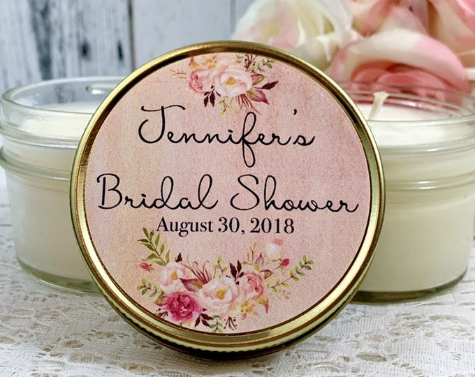Blush Bridal Shower Favors - Bridal Shower Candle Favors - Blush Wedding - Bridal Shower Party Favors - Pink Bridal Shower Favors set of 12