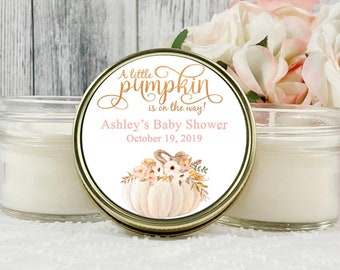 Girl Pumpkin Baby shower favors - White Pumpkin - Baby shower Favors for girl - Our little Pumpkin baby shower - Little Pumpkin Favors