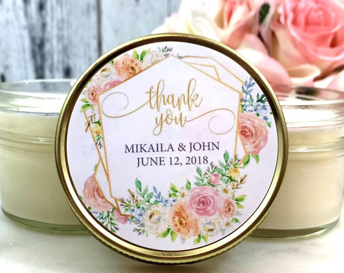 Blush & Gold Wedding Favor - Floral Wedding Favor - Wine Wedding Favor - Blush Gold Wedding - Blush Wedding - Wedding Favor set of 12