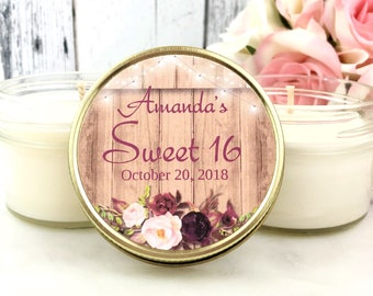 Sweet 16 Party Favors - Rustic Sweet 16 - Fall Sweet 16 - Sweet 16 Party - Sweet 16 Favors - Fall Party Favors - Sweet 16 Ideas - Set of 12