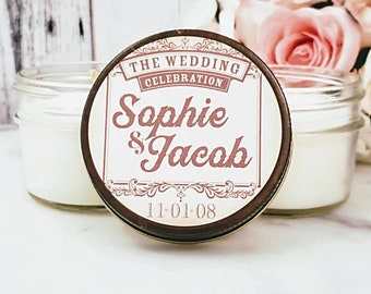 Vintage Wedding Favors - Rustic Wedding - Candle Wedding Favors - Vintage Wedding - Wedding Shower Favors - Party Candle Favors - Set of 12