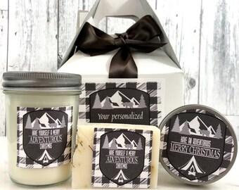 Christmas Gift For Men - Mens Gift Set - Mens Gift Box - Christmas Gift for Husband - Christmas Gift Set - Mens Spa Gift Set Man candle Set
