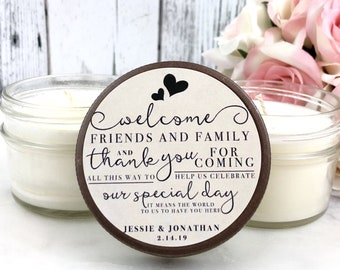 Rustic Wedding Favors - Rustic Wedding - Rustic Favors - Wedding Candle Favors - Rustic Wedding Decor - Wedding Party Favors - 12 Candles