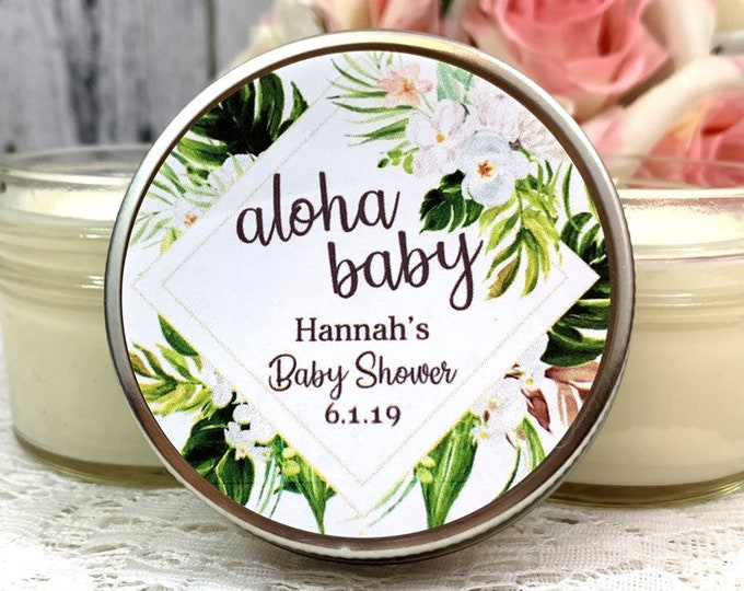 Tropical Baby shower Favors - Tropical Baby Shower - Summer Baby Shower Favors - Greenery Baby shower - Tropical Favors - Baby Shower Candle