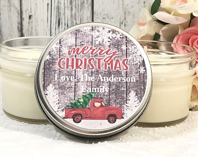 Christmas Party Favors - Farmhouse Christmas Candle - Christmas Party - Holiday Party Favors - Christmas Corporate Gift - Christmas Gift