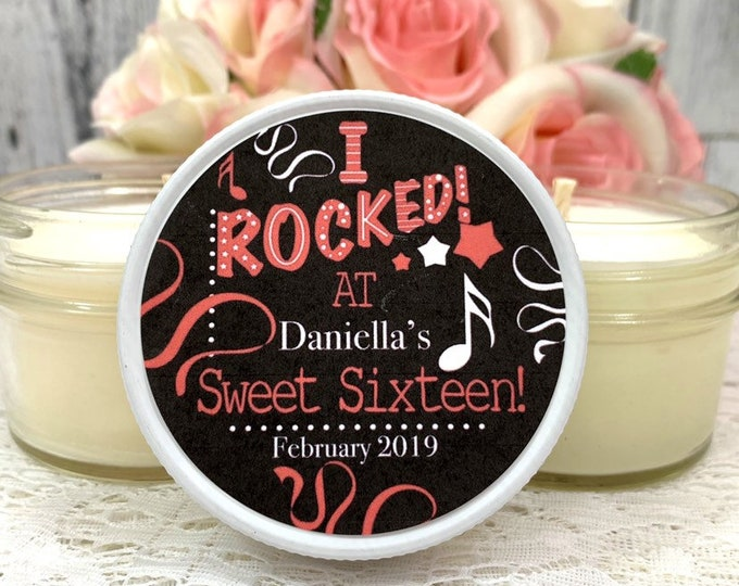 Sweet 16 Favors - Sweet 16 Party Favors - Sweet 16 Candle favors - Sweet Sixteen - Party Favors - Glow Party Favors - Sweet Sixteen Favors