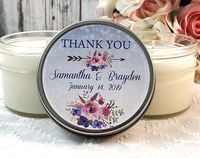 Bohemian Winter Wedding Favors - Boho Wedding Favors - Wedding Favor Candles - Winter wedding - Snow Wedding Favors - Bohemian Wedding