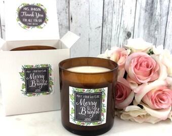 Christmas Gift for teacher - Teacher Christmas Gifts - Christmas Candle - Gift for teacher - Teacher Candle - Teacher Christmas