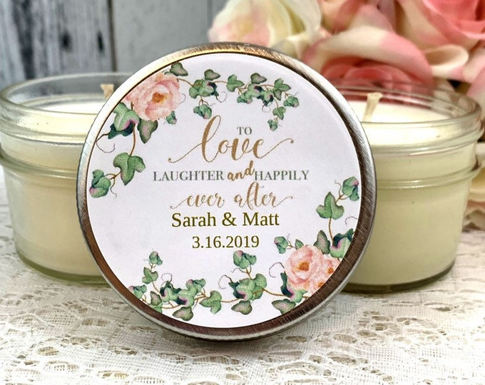 blush and greenery Wedding - Blush Wedding Favors - Greenery Wedding Favors - Wedding Candles Favors - Wedding Candles