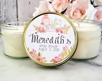 12 Bridal Brunch Favors - Bridal Brunch Shower - Bridal shower Favors - Tea Party Favors Bridal party Favors - Bridal shower candle favors