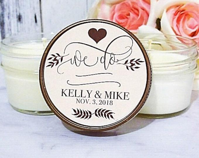 Set of 12 Heart Wedding Favors - We Do Wedding - Rustic Wedding - Wedding Candle Favors - Rustic Favors For Wedding - Heart Favors