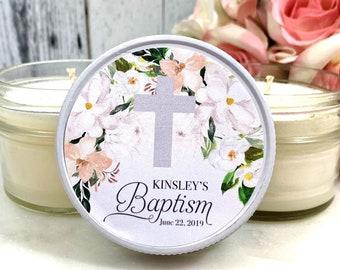 Girl Baptism Favors - Girl Baptism Party Favors - Baptism Candle Favors - Baptism Candle - Baptism Favors girl - Set of 12 candle favors