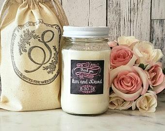 Couples Candle - Couples Gift - wedding Couple gift - Soy Candle - Chalkboard Wedding - Newlywed Gift - Wedding Candle Gift - 16oz Candle