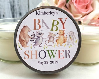 Woodland Baby Shower Favors Candles - Woodland baby shower Favors - Woodland Animals Candles - Woodland Animals - Baby shower candle Favor