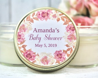 Rose Gold Baby Shower Favors - Girl Baby Shower Candle Favors  - Rose Gold baby shower - Baby Shower Favors - Baby Shower for girl