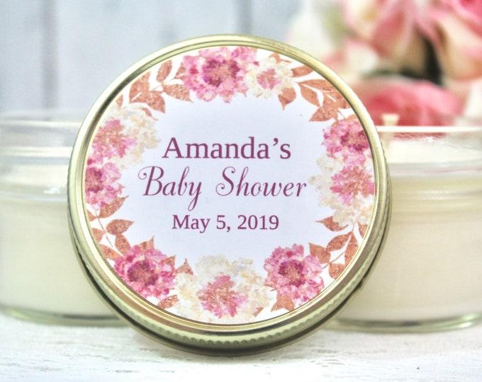 Rose Gold Baby Shower Favors - Girl Baby Shower Candle Favors  - Rose Gold baby shower - Baby Shower Favors - Baby Shower for girl