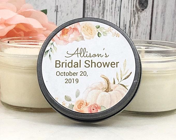 Pumpkin Bridal Shower Favor - Pumpkin Bridal Favors - Pumpkin Favors - Fall Bridal Shower - Fall Wedding Favors - White Pumpkin Wedding