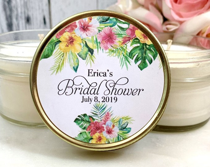 Summer Bridal shower Favors - Summer Wedding - Summer Bridal shower - Tropical Bridal shower favors - Greenery Bridal Shower Favors