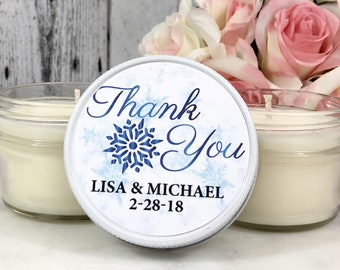 Winter Wedding Favor - Snowflake Wedding Favor - Winter Wedding - Snow Wedding - Christmas Wedding Favors - December Wedding Favors 12 sets
