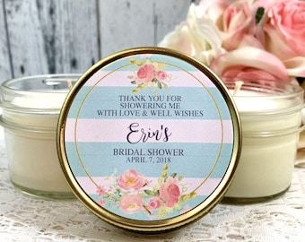 Bridal Shower Candles - Bridal Shower Favors - Bridal Shower Candles Favors - Bridal Shower party favors - Soy Candles - Set of 12