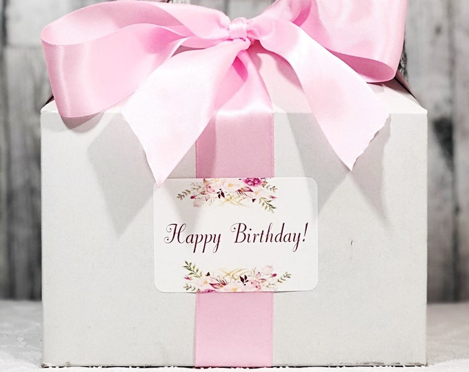Happy Birthday Gift Box - Birthday Gift Box - Gift box for her - Happy Birthday box - pink birthday gift