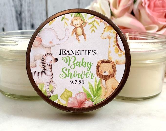 Safari Baby Shower Favor Candles - Safari Baby Shower - Safari Animals Baby Shower Favors - Baby Shower Candle Favors - 1 Dozen Favors