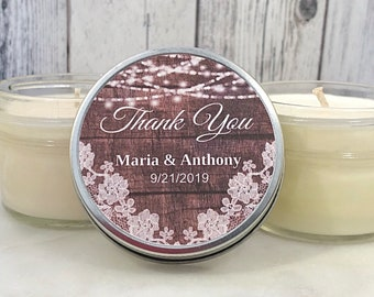 Wood Wedding Favors - Wood and Lace - Rustic Wedding - Wood Wedding Candle - Rustic Wedding Favors - lantern Wedding
