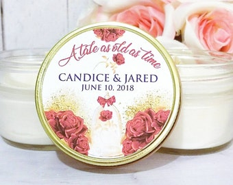 Wedding Favors - Royal Wedding - Fairy Tale Wedding Favors - A Tale as old as Time - Beauty and the Beast wedding - Rose Wedding Favors