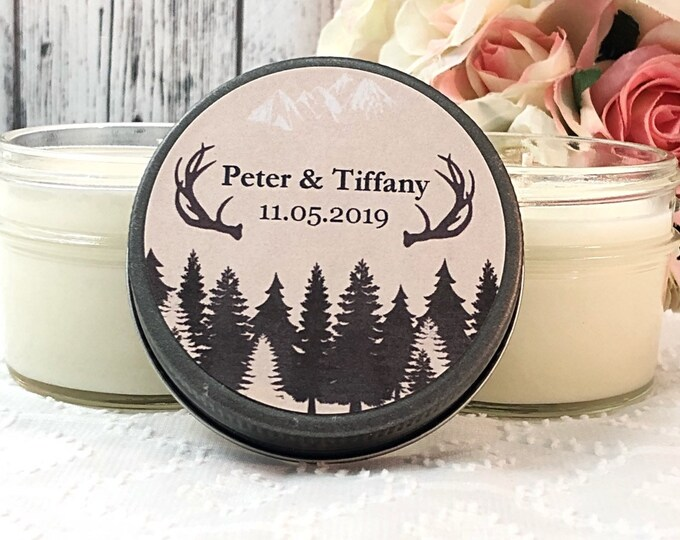Outdoor Wedding Favors - Outdoorsy Wedding - Antler Wedding Favors - Rustic Wedding Favors -Tree Wedding favors - Personalized Wedding Favor