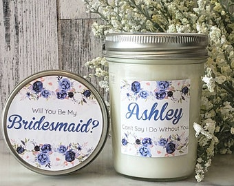 Bridesmaid Proposal candle - Will You Be My Bridesmaid - Bridesmaid Candle Gift - Bridesmaid Proposal - Asking Bridesmaid Candle Proposal