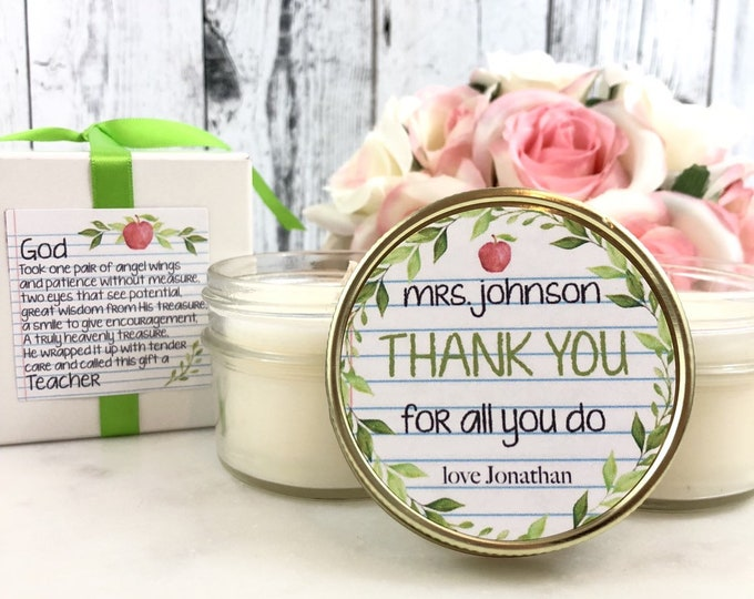 Gift for teacher - Teacher Gifts - Teacher Candle Gift - Gift for teacher - Teacher Candle - Teacher Gift Box