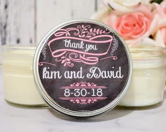 Rustic wedding favors - Rustic Favors - Chalkboard Wedding - Rustic Candle Favor - Wedding Favor Candles - Wedding Favors For guest 12 Set